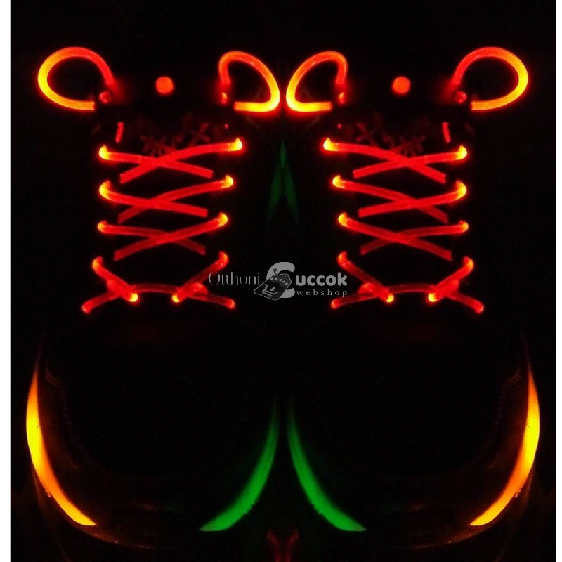 1 pár LED cipőfűző (narancssárga)
