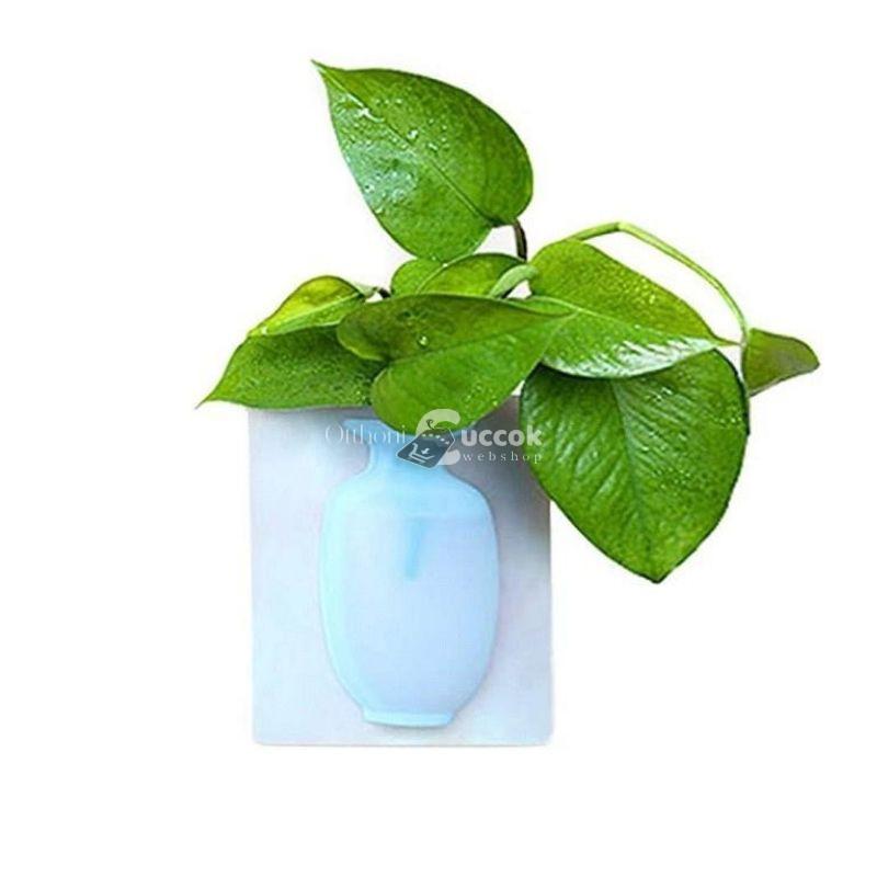 Átlátszó, öntapadós dekor váza