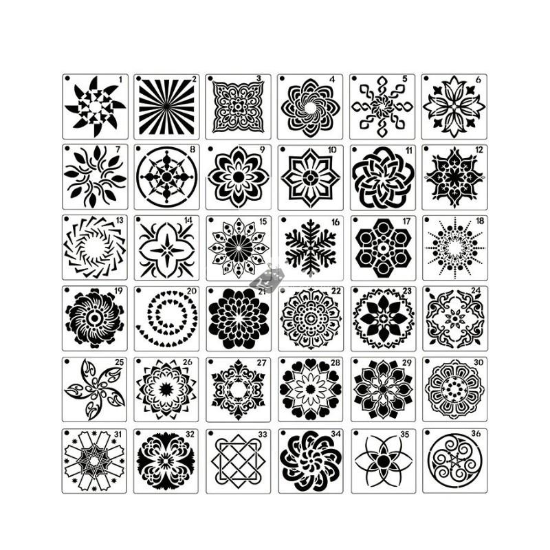 Stencil - Mandala mintás festősablon