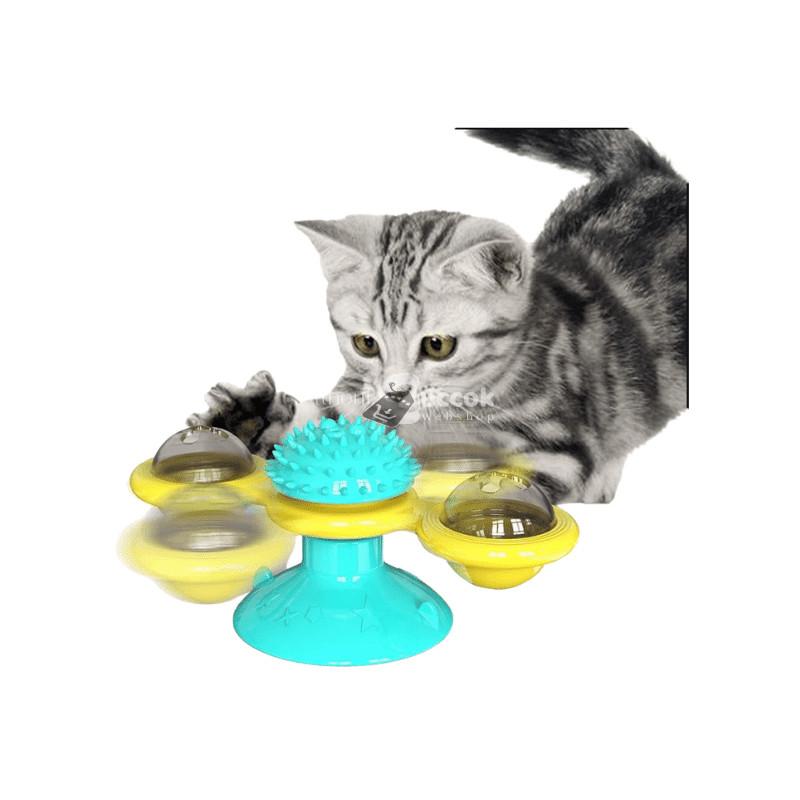 Szélmalom macskajáték cica fésűvel