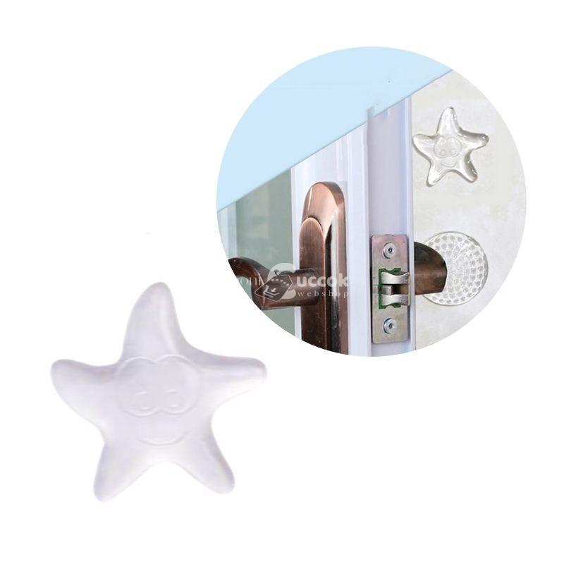 Öntapadós szilikon (csillag forma) ajtóütköző (10 db)
