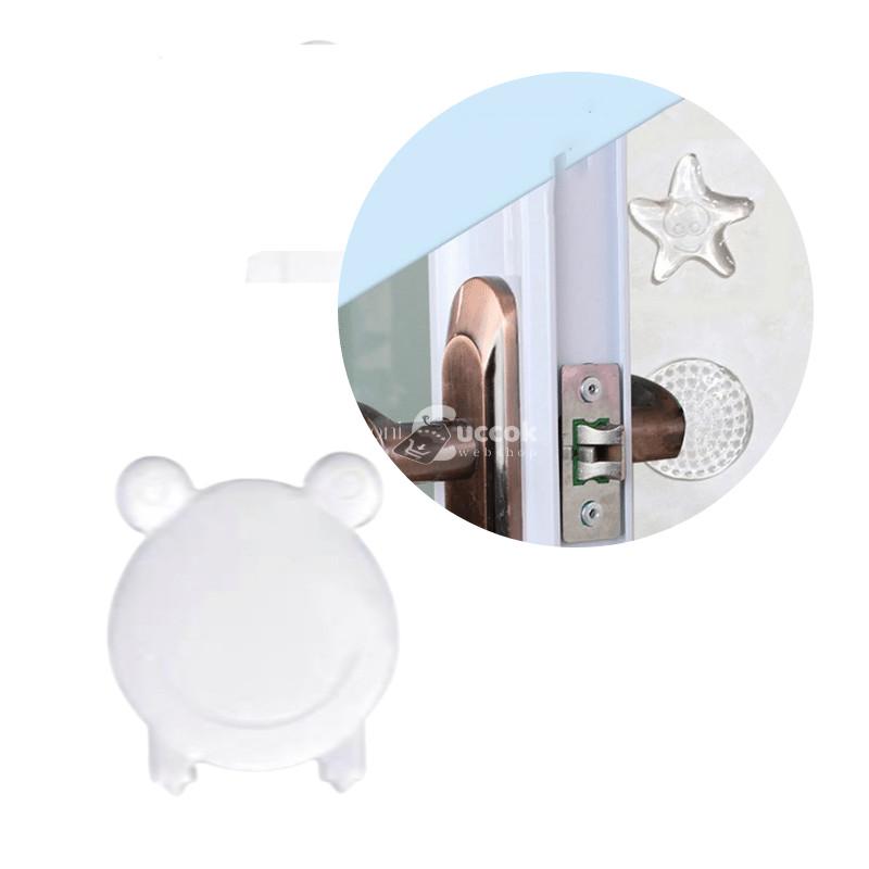 Öntapadós szilikon (béka forma) ajtóütköző (10 db)