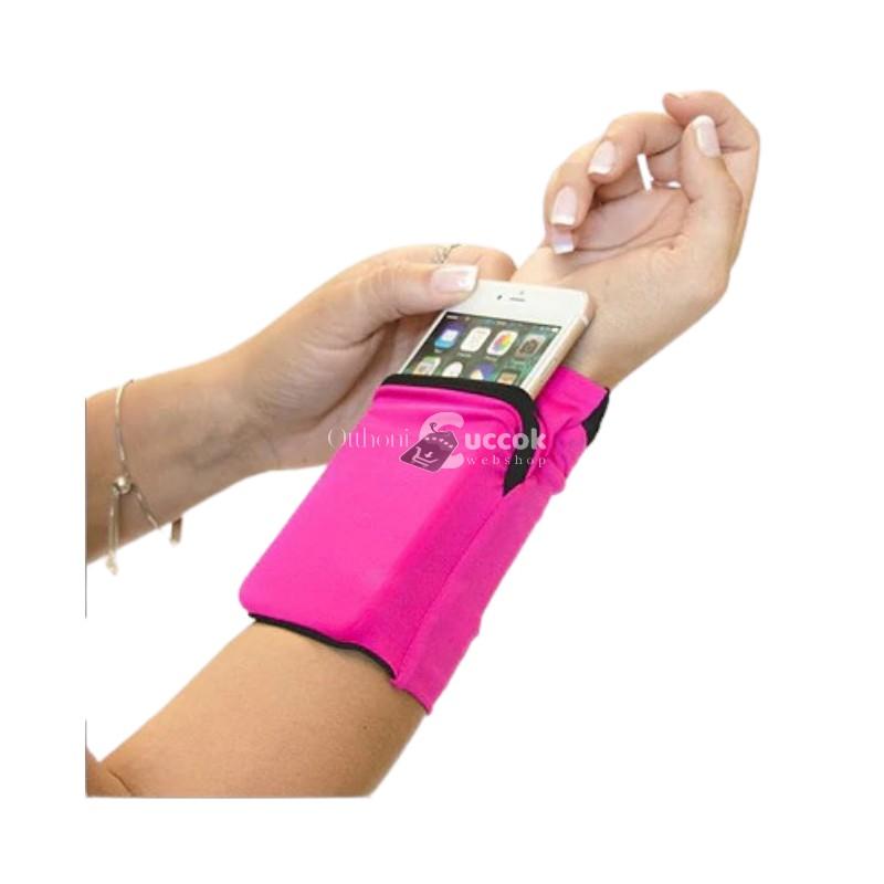 Csukló telefontartó és pénztárca (Rózsaszín)