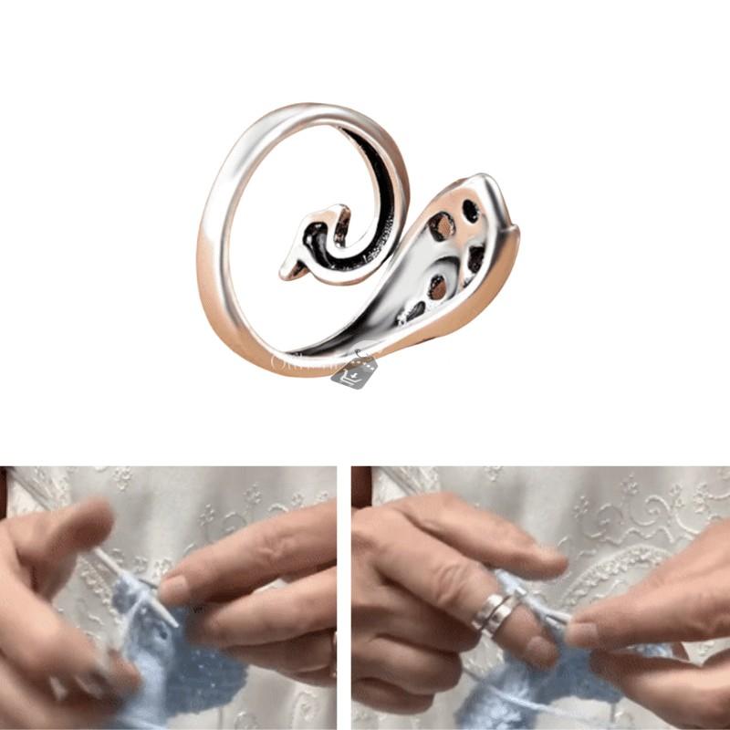 Horgológyűrű, gyűrű kötéshez