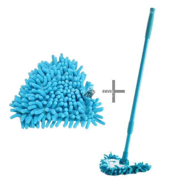 Hosszabbítható többfunkciós mikroszálas felmosó - Kék