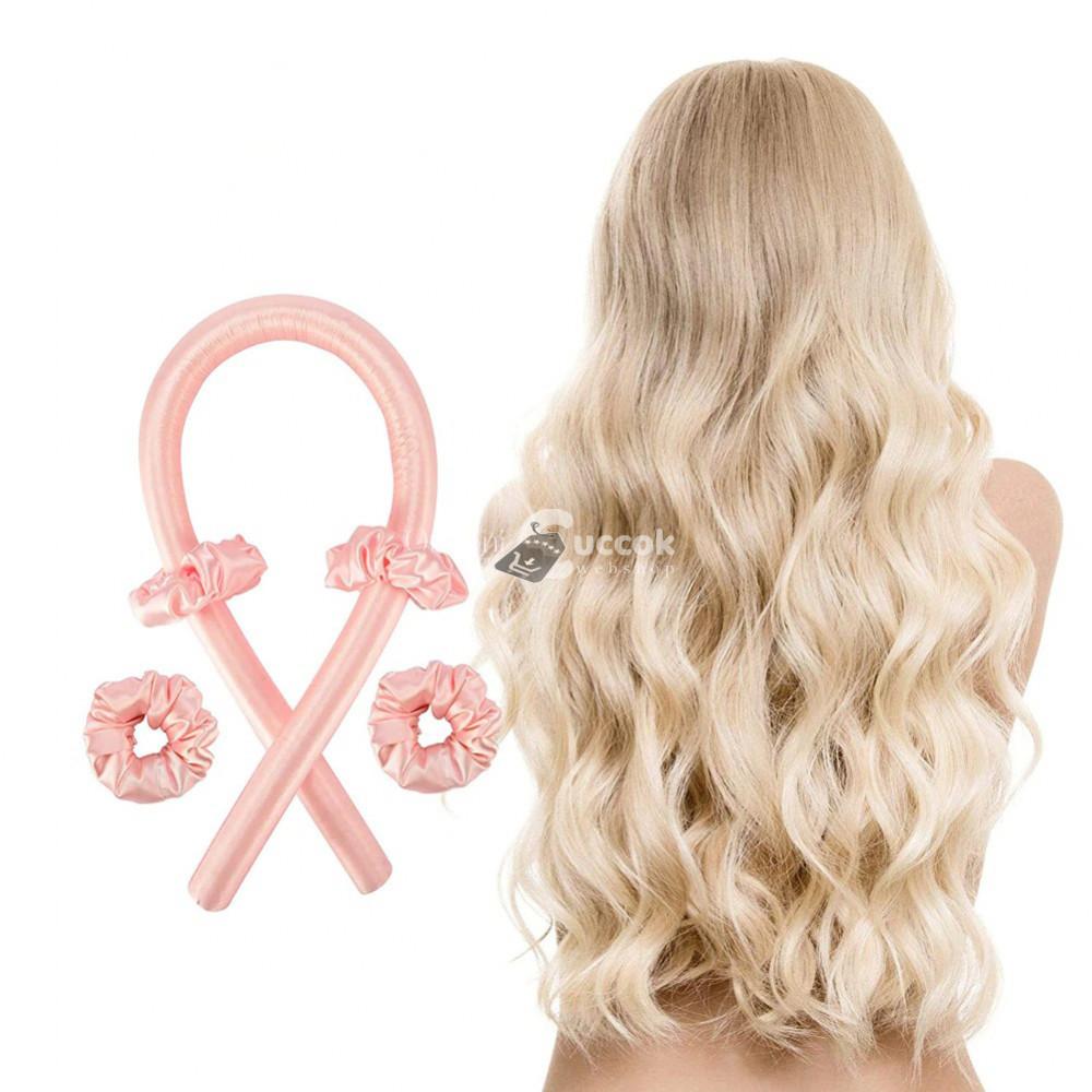 Hajformázó, hajgöndörítő pánt -Rózsaszín