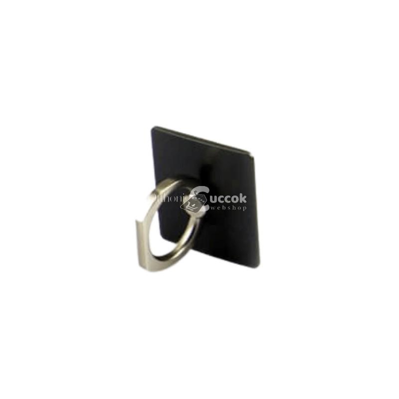 Telefontartó gyűrű - Fekete