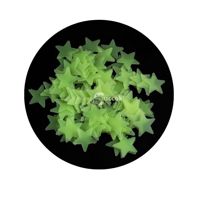100 db Világítós csillag dekoráció gyerekszobába.
