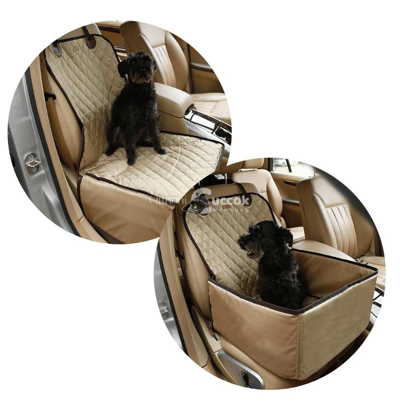 Autós kutyaülés (bézs)